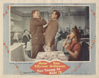 TOO YOUNG TO KISS MOVIE CAST - LOBBY CARD UNSIGNED (USA) 1951