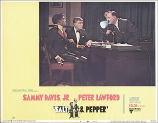 SALT & PEPPER MOVIE CAST - LOBBY CARD UNSIGNED (USA) 1968