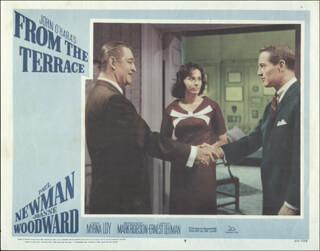 FROM THE TERRACE MOVIE CAST - LOBBY CARD UNSIGNED (USA) 1960