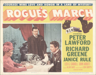 ROGUE''S MARCH MOVIE CAST - LOBBY CARD UNSIGNED (USA) 1953