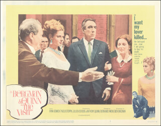 THE VISIT MOVIE CAST - LOBBY CARD UNSIGNED (USA) 1964
