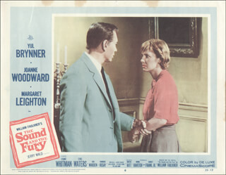 THE SOUND AND FURY MOVIE CAST - LOBBY CARD UNSIGNED (USA) 1959