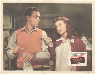Autographs: APARTMENT FOR PEGGY MOVIE CAST - LOBBY CARD UNSIGNED (USA) 1948