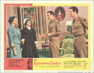 Autographs: AMBASSADOR''S DAUGHTER MOVIE CAST - LOBBY CARD UNSIGNED (USA) 1956