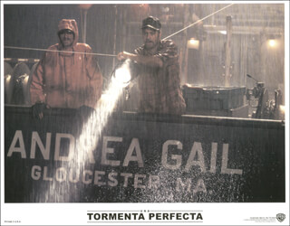 THE PERFECT STORM MOVIE CAST - LOBBY CARD UNSIGNED (SP) 2000