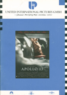 APOLLO XIII MOVIE CAST - PRESS KIT UNSIGNED CIRCA 1995