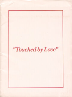 TOUCHED BY LOVE MOVIE CAST - PRESS KIT UNSIGNED