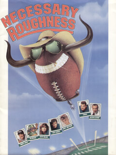 NECESSARY ROUGHNESS MOVIE CAST - PRESS KIT UNSIGNED