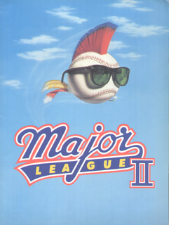 MAJOR LEAGUE II MOVIE CAST - PRESS KIT UNSIGNED