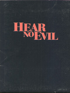 HEAR NO EVIL MOVIE CAST - PRESS KIT UNSIGNED