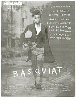 BASQUIAT MOVIE CAST - PRESS KIT UNSIGNED