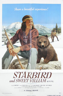 STARBIRD AND SWEET WILLIAM MOVIE CAST - POSTER UNSIGNED CIRCA 1973