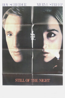 STILL OF THE NIGHT MOVIE CAST - POSTER UNSIGNED CIRCA 1982