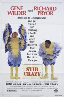 STIR CRAZY MOVIE CAST - POSTER UNSIGNED CIRCA 1980