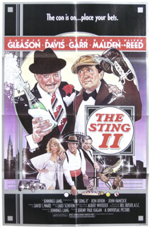 THE STING II MOVIE CAST - POSTER UNSIGNED CIRCA 1983