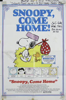 SNOOPY, COME HOME MOVIE CAST - POSTER UNSIGNED CIRCA 1972