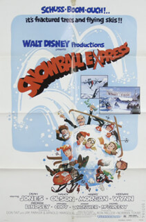 SNOWBALL EXPRESS MOVIE CAST - POSTER UNSIGNED CIRCA 1972