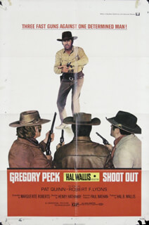 SHOOT OUT - POSTER UNSIGNED CIRCA 1971