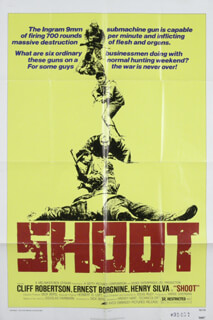 SHOOT MOVIE CAST - POSTER UNSIGNED CIRCA 1976