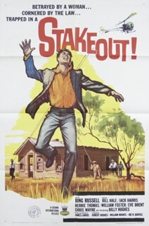 STAKEOUT! MOVIE CAST - POSTER UNSIGNED CIRCA 1962