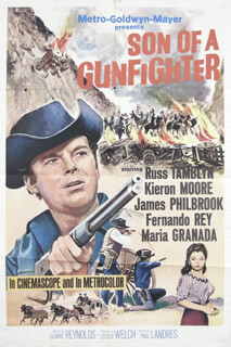 SON OF A GUNFIGHTER MOVIE CAST - POSTER UNSIGNED CIRCA 1965