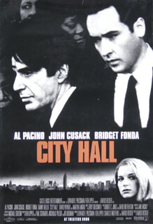 CITY HALL MOVIE CAST - POSTER UNSIGNED CIRCA 1996