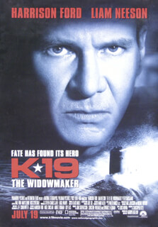 K-19: THE WIDOWMAKER MOVIE CAST - POSTER UNSIGNED CIRCA 2002