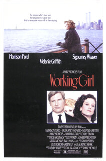 WORKING GIRL MOVIE CAST - POSTER UNSIGNED CIRCA 1988