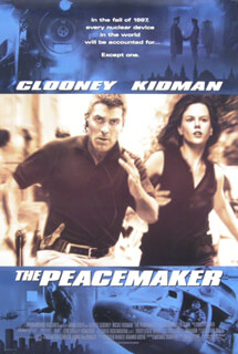 PEACEMAKER MOVIE CAST - POSTER UNSIGNED CIRCA 1997