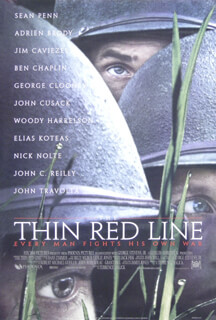 THIN RED LINE MOVIE CAST - POSTER UNSIGNED CIRCA 1998