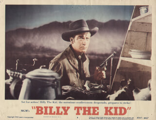 BILLY THE KID MOVIE CAST - LOBBY CARD UNSIGNED (USA) 1955