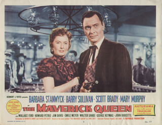MAVERICK QUEEN MOVIE CAST - LOBBY CARD UNSIGNED (USA) 1956