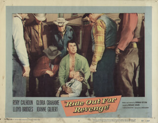 RIDE OUT FOR REVENGE MOVIE CAST - LOBBY CARD UNSIGNED (USA) 1957