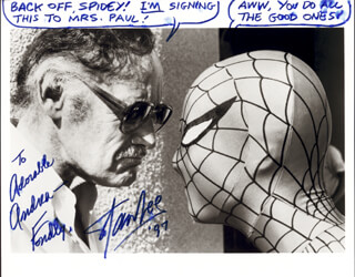 STAN LEE - AUTOGRAPHED INSCRIBED PHOTOGRAPH 1997