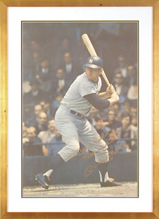 MICKEY MANTLE - INSCRIBED POSTER SIGNED