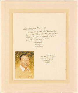 NORMAN ROCKWELL - AUTOGRAPH LETTER SIGNED