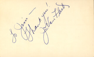 JO VAN FLEET - INSCRIBED SIGNATURE