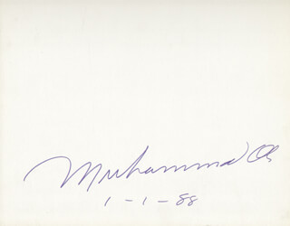 Autographs: MUHAMMAD THE GREATEST ALI - SIGNATURE(S) 01/01/1988
