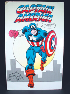 Autographs: STAN LEE - INSCRIBED POSTER SIGNED 1990