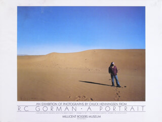 Autographs: R. C. GORMAN - POSTER SIGNED CO-SIGNED BY: CHUCK HENNINGSEN