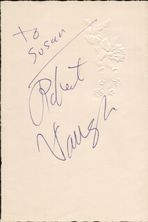 ROBERT VAUGHN - INSCRIBED SIGNATURE