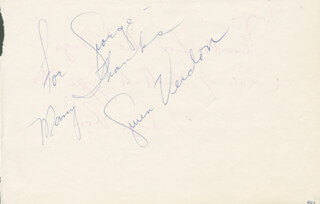 GWEN VERDON - AUTOGRAPH NOTE SIGNED CO-SIGNED BY: DANIEL MARILYN ROSS ROSS