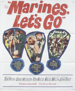 MARINES, LET'S GO MOVIE CAST - PRESS KIT UNSIGNED