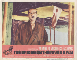 Bridge On The River Kwai Movie Cast Lobby Card Unsigned Usa 1957 Historyforsale Item 262056