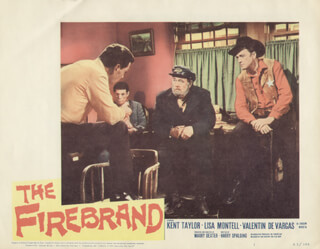 FIREBRAND MOVIE CAST - LOBBY CARD UNSIGNED (USA) 1962
