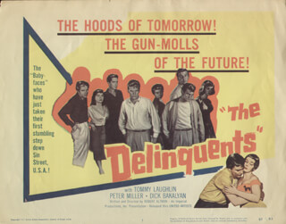 DELINQUENTS MOVIE CAST - LOBBY CARD UNSIGNED (USA) 1957