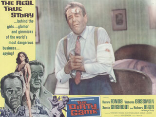 DIRTY GAME MOVIE CAST - LOBBY CARD UNSIGNED (USA) 1966
