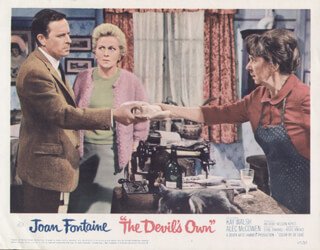 THE DEVIL'S OWN MOVIE CAST - LOBBY CARD UNSIGNED (USA) 1967