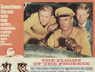 FLIGHT OF THE PHOENIX MOVIE CAST - LOBBY CARD UNSIGNED (USA) 1965