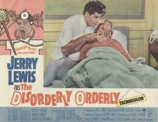 DISORDERLY ORDERLY MOVIE CAST - LOBBY CARD UNSIGNED (USA) 1964